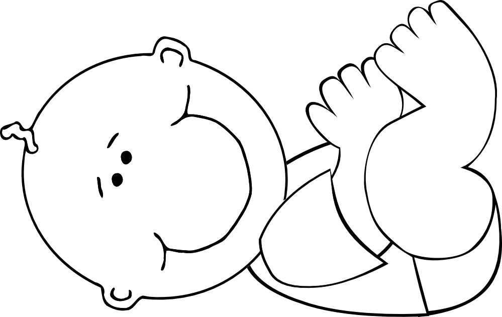 Outline clipart baby, Outline baby Transparent FREE for.