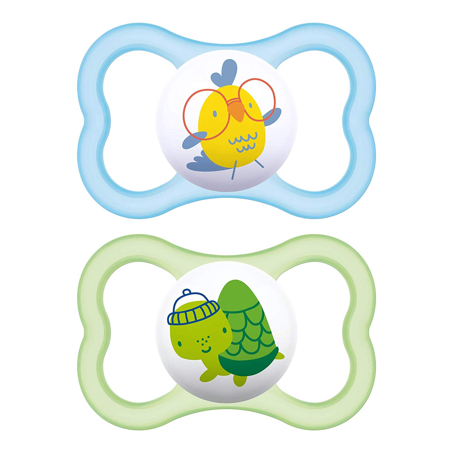 MAM Air Pacifiers (2 pack), MAM Sensitive Skin Pacifier 6+ Months, Best  Pacifier for Breastfed Babies, Baby Boy Pacifiers, Green and Blue.