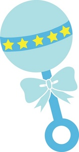 424 Baby Rattle free clipart.