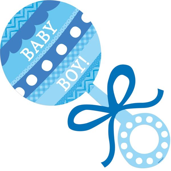 Baby Boy Rattle Cutout.