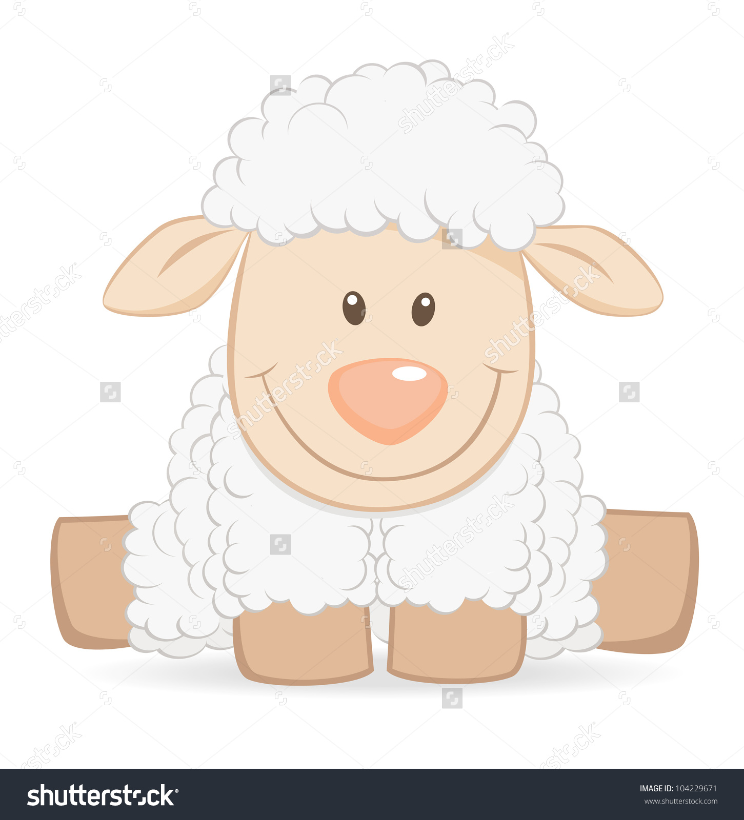 Baby Boy Lamb Clipart.