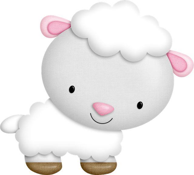 Sheep boy girl clipart.