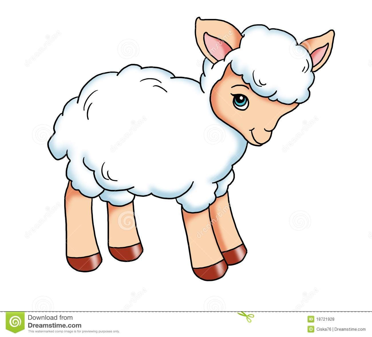 Cute Baby Lamb Clipart.