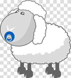 Cotswold sheep Cartoon Wool, Lamb billboard transparent.
