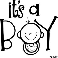 Baby Boy Clipart Black And White.