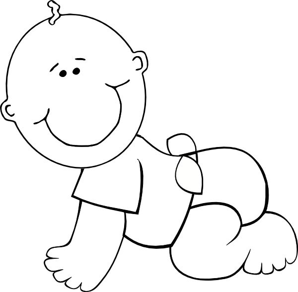Baby Boy Shower Black And White Clipart.