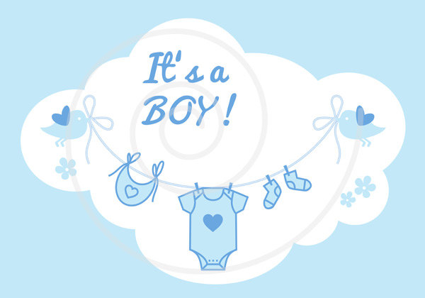 Baby Shower Its A Boy Clipart.