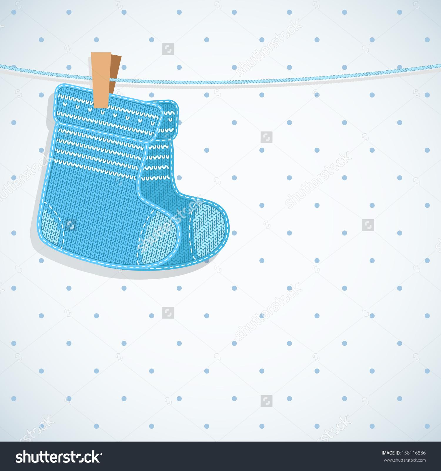 baby boy socks clipart Clipground