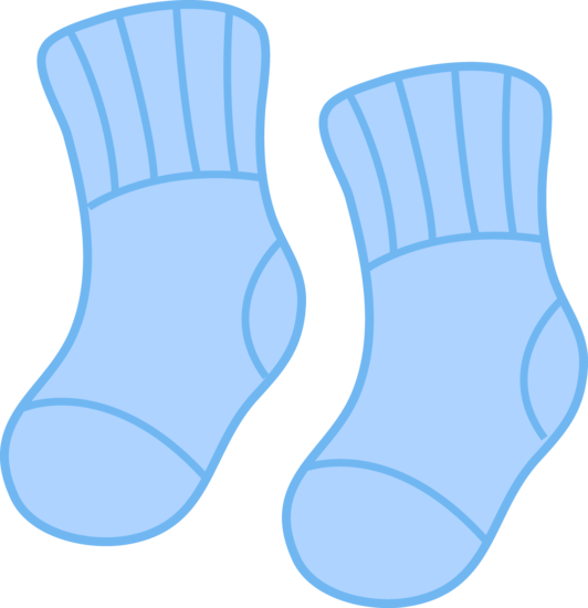 Baby Boy Socks Clipart.