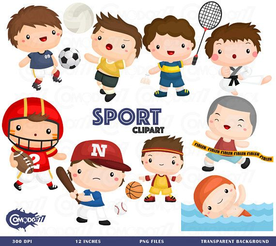 Sport and Boys Clipart.