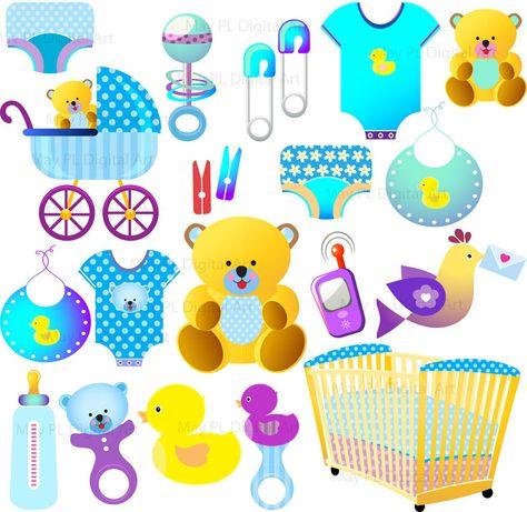 cool baby boy sports clipart hd Baby Boy Shower Invitation.