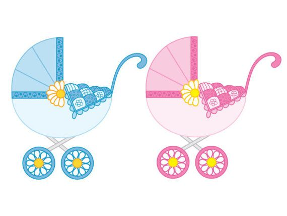 ITEM: Baby Stroller Clipart.