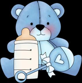 BABY BLUE TEDDY BEAR.
