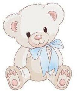 Details about 48 CUTE BABY BOY TEDDY BEAR SHOWER!! STICKER LABEL ENVELOPE  SEALS 1.2\