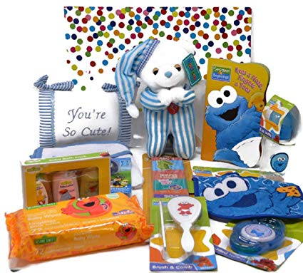 Amazon.com: Teddy Bear and Sesame Street Baby Boy Gift.