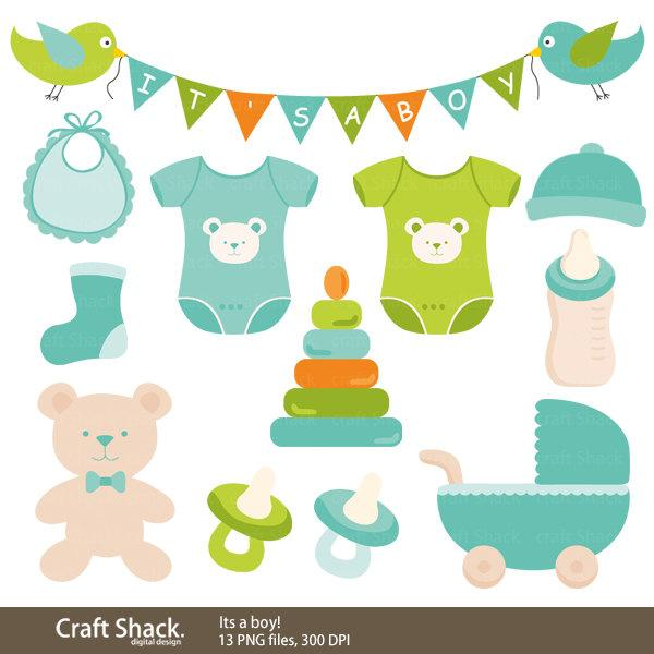 39+ Baby Boy Items Clipart.