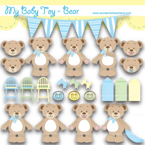 Baby item clipart.
