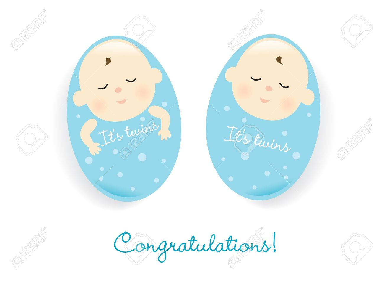 Baby Boy Twins Clipart.