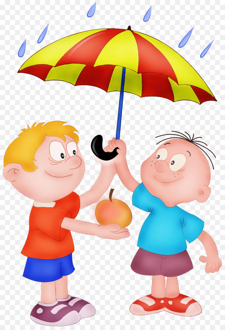 Download Free png Child Boy Clip art umbrella png download.