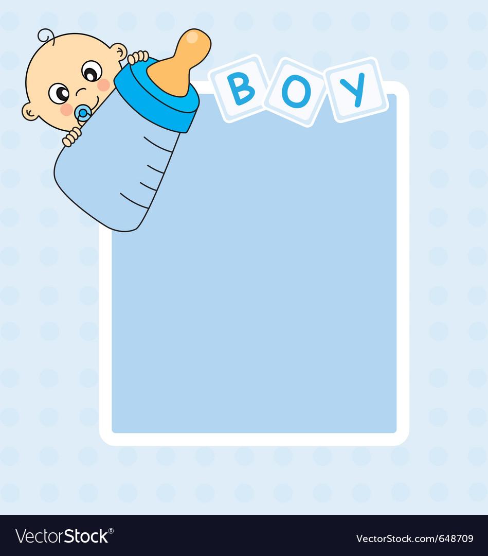 Frame baby boy.