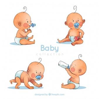 Watercolor Baby Vectors, Photos and PSD files.