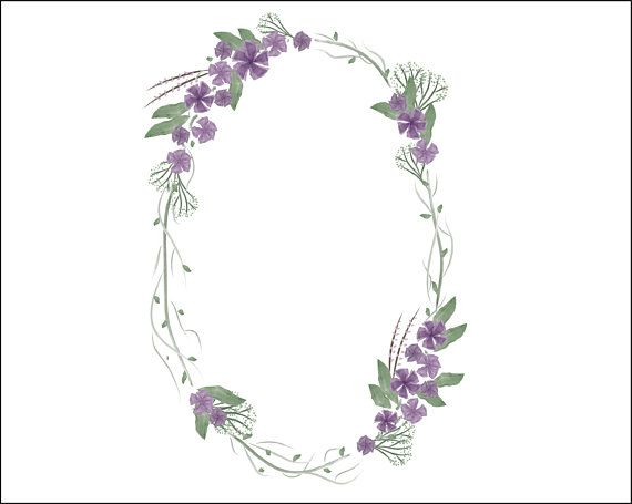 Ultra violet wreath frame omg vector for wedding invites and.