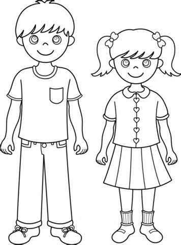 Brother And Sister Clipart Black And White.