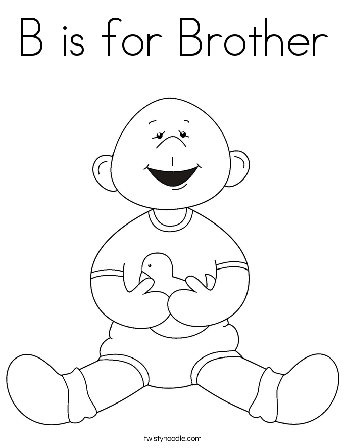 Free New Baby Brother Coloring Page, Download Free Clip Art.