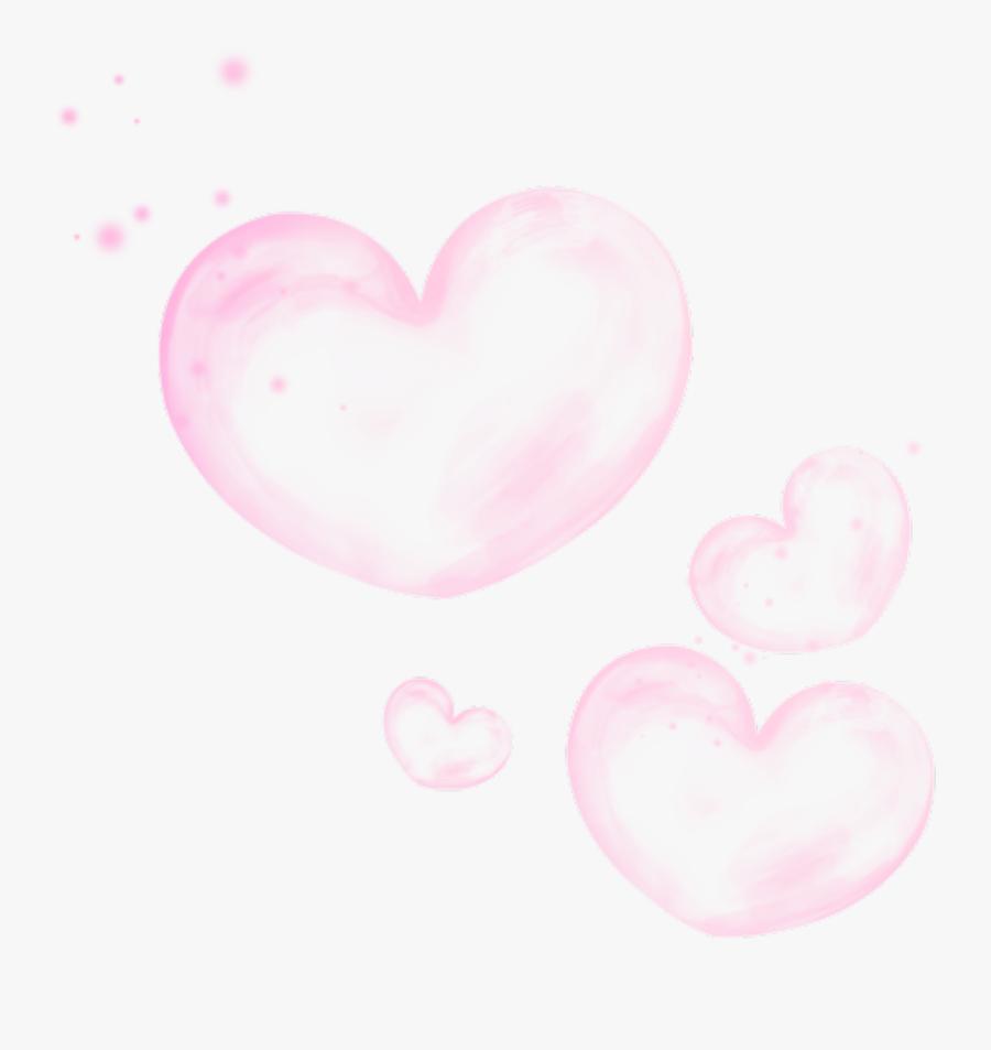 Transparent Pink Bubbles Clipart.