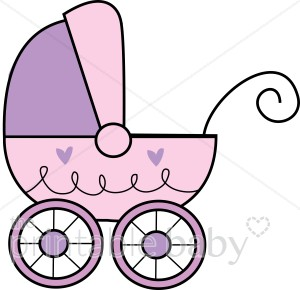 Purple baby Buggy Clipart.
