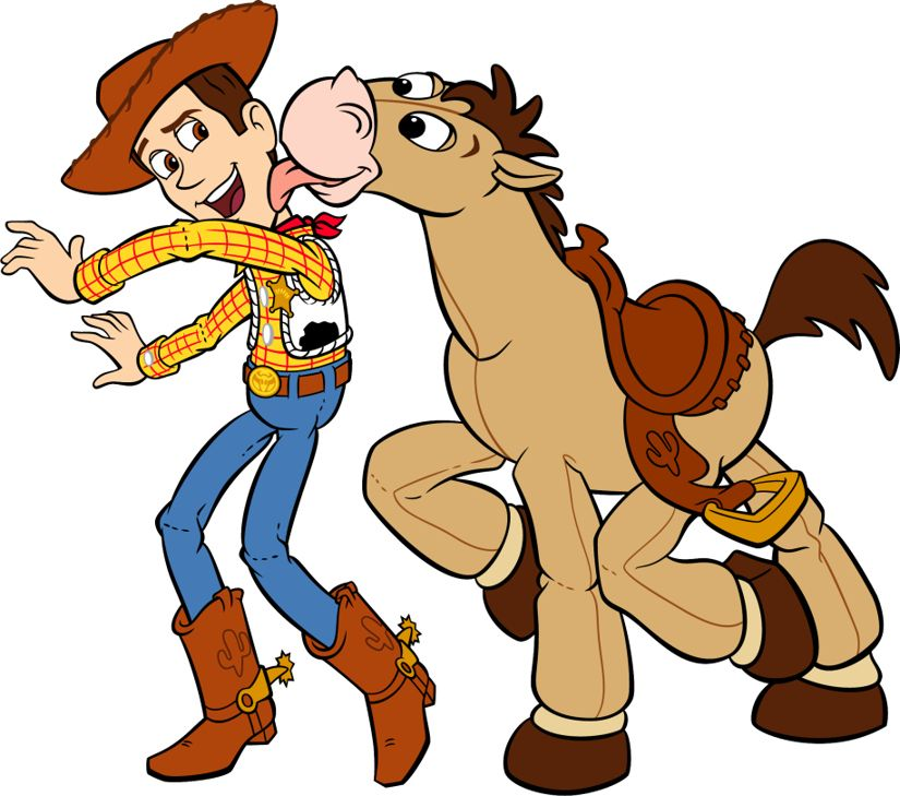 WOODY & BULLSEYE ~ Toy Story.