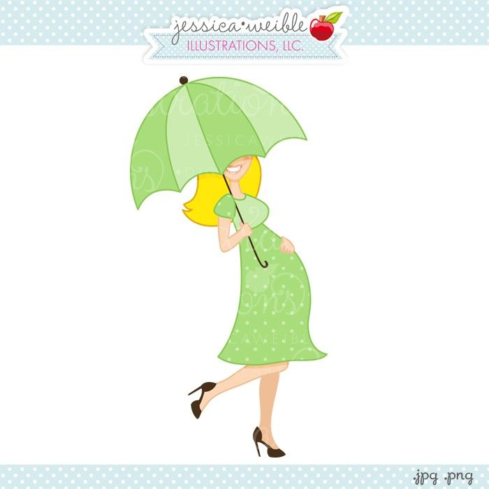 Green Polka Dot Baby Bump Clipart.
