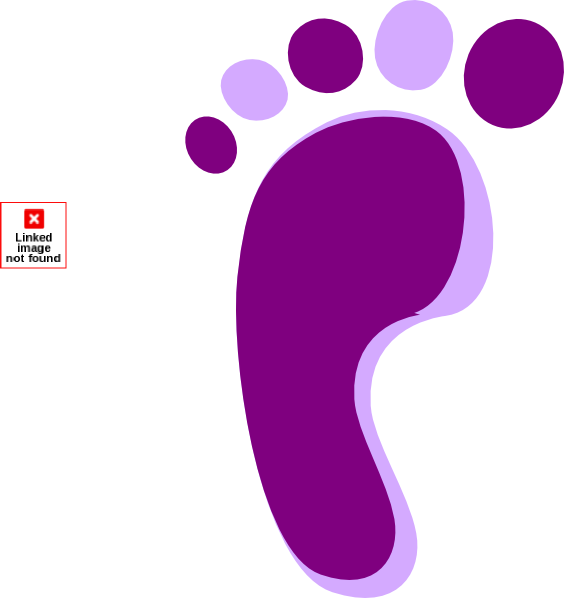 Purple Left Footprint Clip Art.