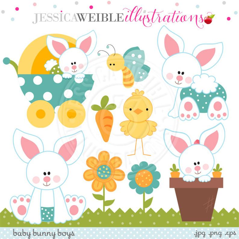 Baby Bunny Boys Cute Digital Clipart, Easter Bunny Clipart, Baby Bunny  Rabbit, Easter Clip art, Easter Graphics, Easter Digital Download.