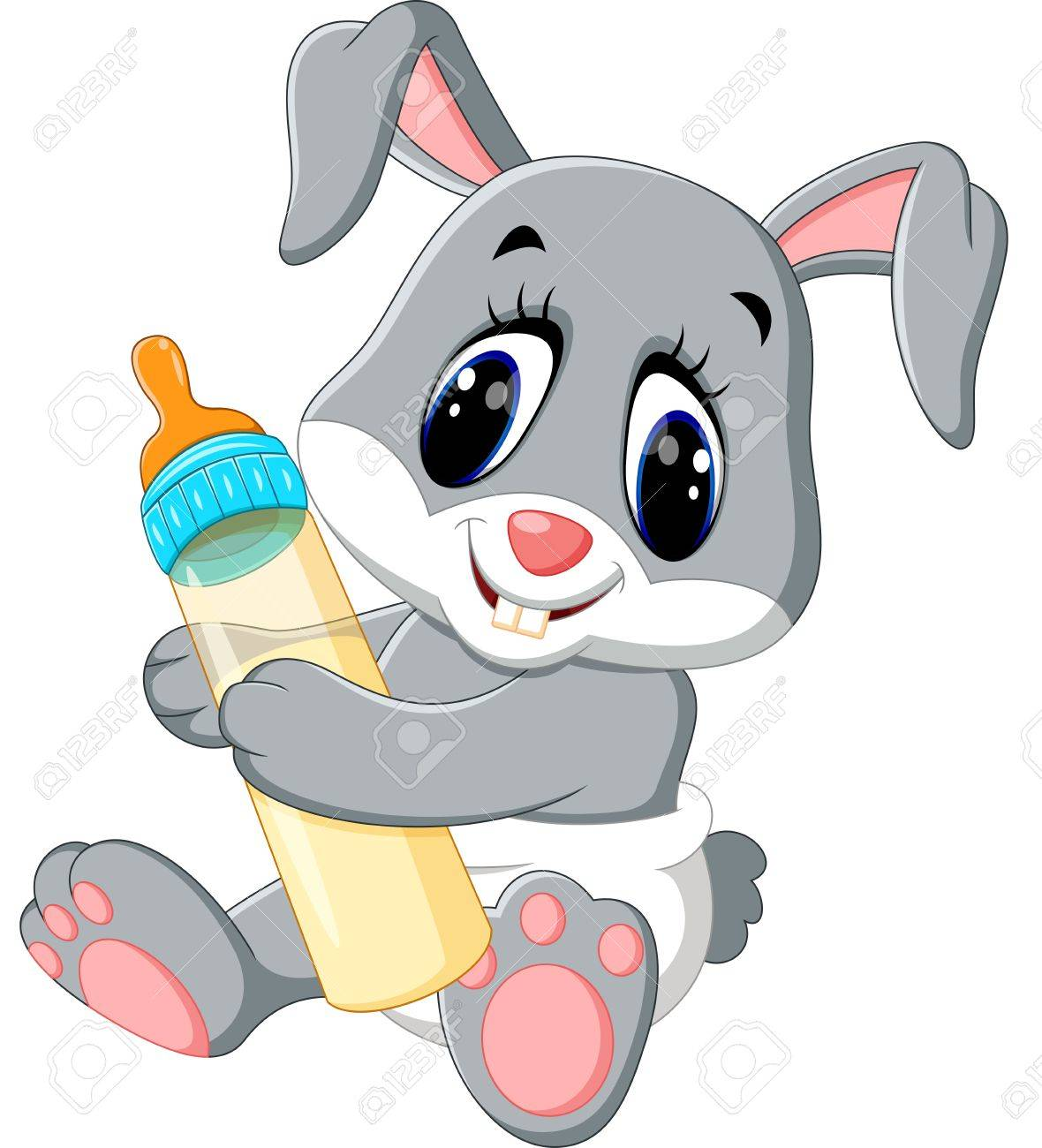 Cute Baby Rabbit Clipart.