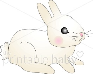 Baby Bunny with Rosy Cheeks Clipart.
