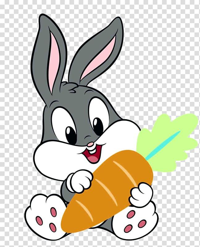 Baby Looney Tunes Bugs Bunny holding carrot , Bugs Bunny.