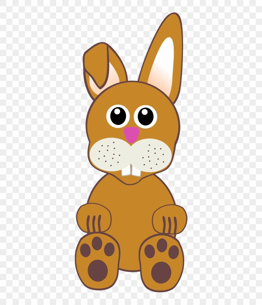 Funny Baby Bunny Sittings Cartoon Rabbit Face PNG Clipart.