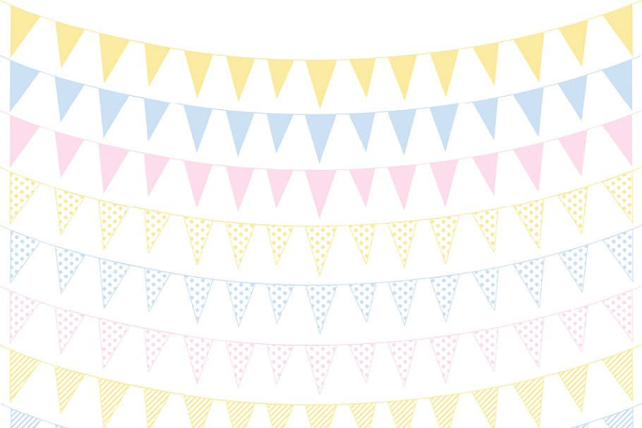 BABY FLAG BANNER CLIPART ~ Illustrations ~ Creative Market.