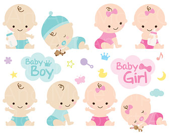 Baby Bunting Banner Clip Art Baby Girl Shower Clipart.