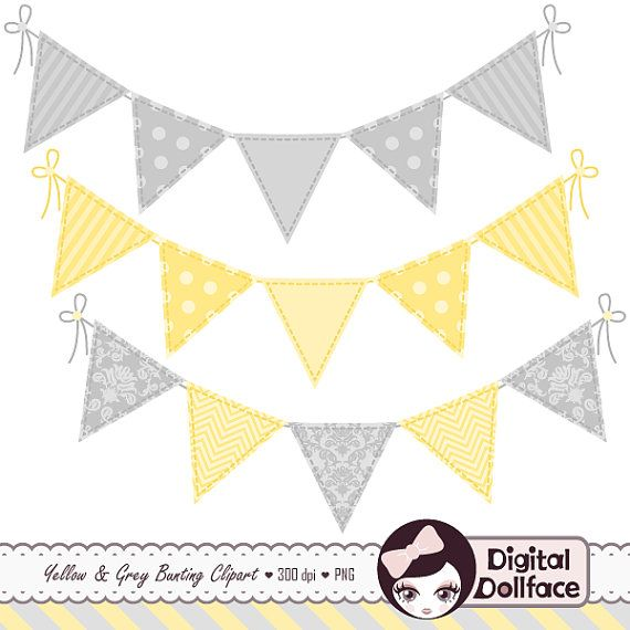 gray and yellow baby shower banner.