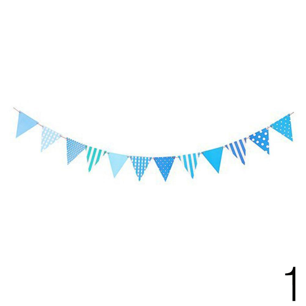 Paper Flag Bunting Birthday Baby Boy Shower Banner Garlands Party.