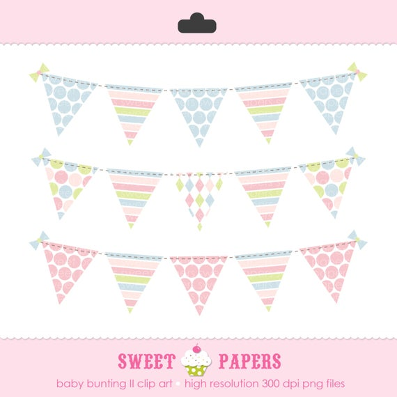 Baby Bunting II Digital Clip Art Set.
