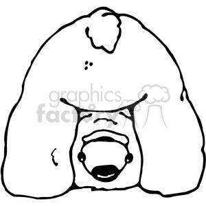 Polar Bear butt clipart. Royalty.