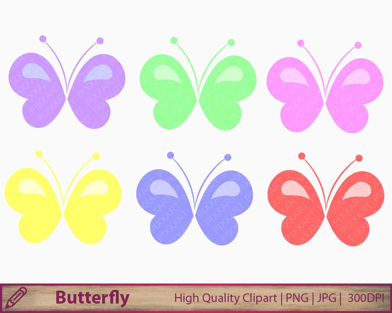 Butterfly clipart, baby pastel baby butterfly clip art, scrapbooking,  commercial use, digital instant download, jpg png 300dpi.