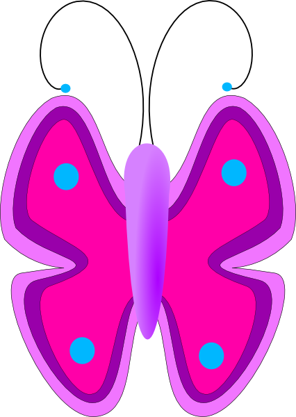 Purple Baby Butterfly Clipart.