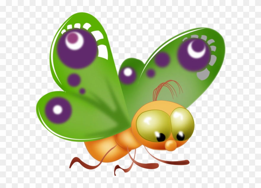 Baby Butterfly Cartoon Clip Art Pictures.