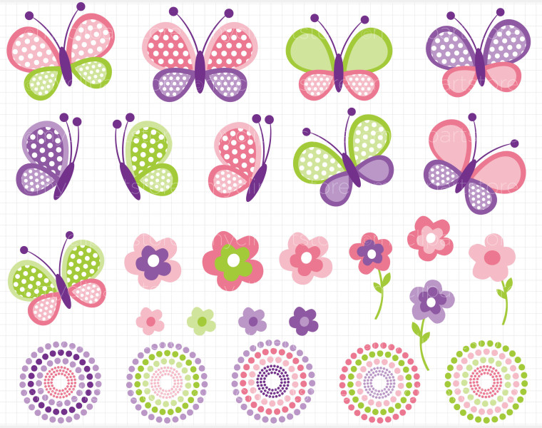 Butterfly Baby Clipart.