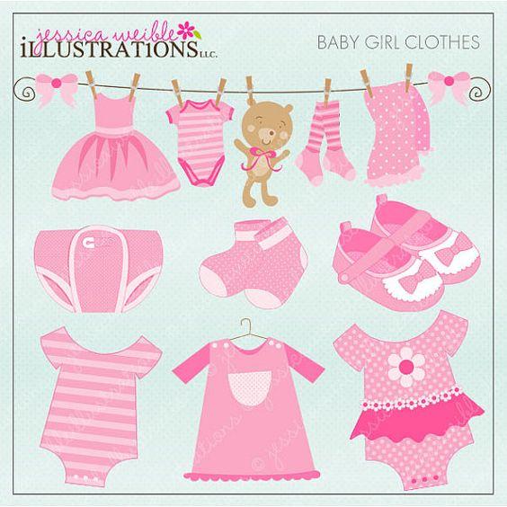 Baby Girl Digital Clipart.