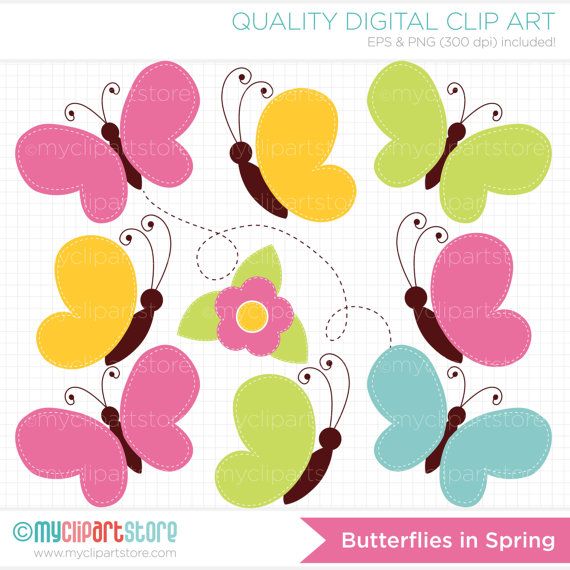 Butterfly Digital Clipart.